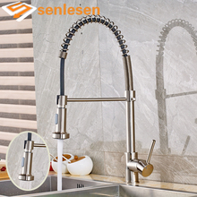 Nickel Brushed Two Functions Sprayer Water Faucet for Kitchen with Hot Cold Water Deck Mounted