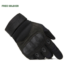 FREE SOLDIER outdoor sports men's half finger full gloves for riding climbing training tactical gloves Cycling gloves(China)
