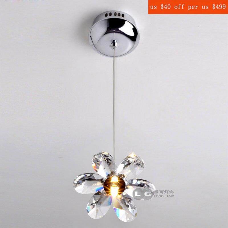 crystal flower pendant light   modern lighting living room lamp bedroom lamp aisle lighting<br>