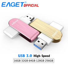 EAGET High Speed USB 3.0 Flash Drive 64GB Pen Drive 32GB Flash Memory Disk Metal USB Stick Waterproof Pendrive 16G for PC Tablet(China)