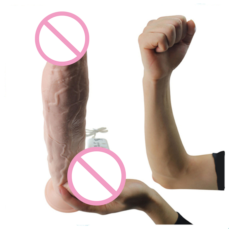 12.5 inch Vibrating Super Huge Flesh Silicone Dildo Big Dick Vibrator Sex Machine Realistic Soft Dildo Penis Vibrator Sex Toys<br>