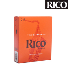 1 piece or 10pcs/box RICO Strength 2.5 / 3 Traditional Bb Tenor sax Reeds Classical Tenor Sax Reeds Beginner Reeds Saxophone use