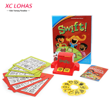 Learn English Words Children Puzzle Swift Bingo Cards Learning Educational Toys English Word Picture Match Game Baby Gift(China)