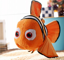 "toy 1pcs 9"" 23cm Movie Cute Clown Fish Stuffed Animal Soft Plush Toy Plush Doll Baby Toy Best price GIFT(China)"