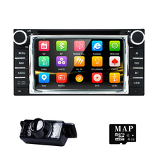 Car in Dash Stereo 2Din GPS DVD Player Navigation Radio support BT/SWC/Rear camera/Subwoofer fit for TOYOTA with LED Backup Cam