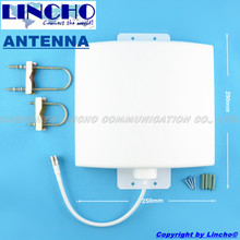 Outdoor Waterproof 12dBi 800-2700MHz GSM 3G WIFI LTE 4G signal repeater flat panel antenna(China)