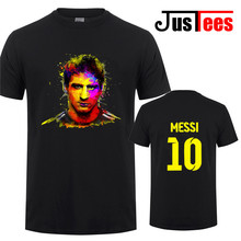 2017 Lionel Messi Shirt camiseta Barcelona camisa T shirt Men Short sleeve Messi T-shirt Cotton tshirt Tops Argentina jersey Tee