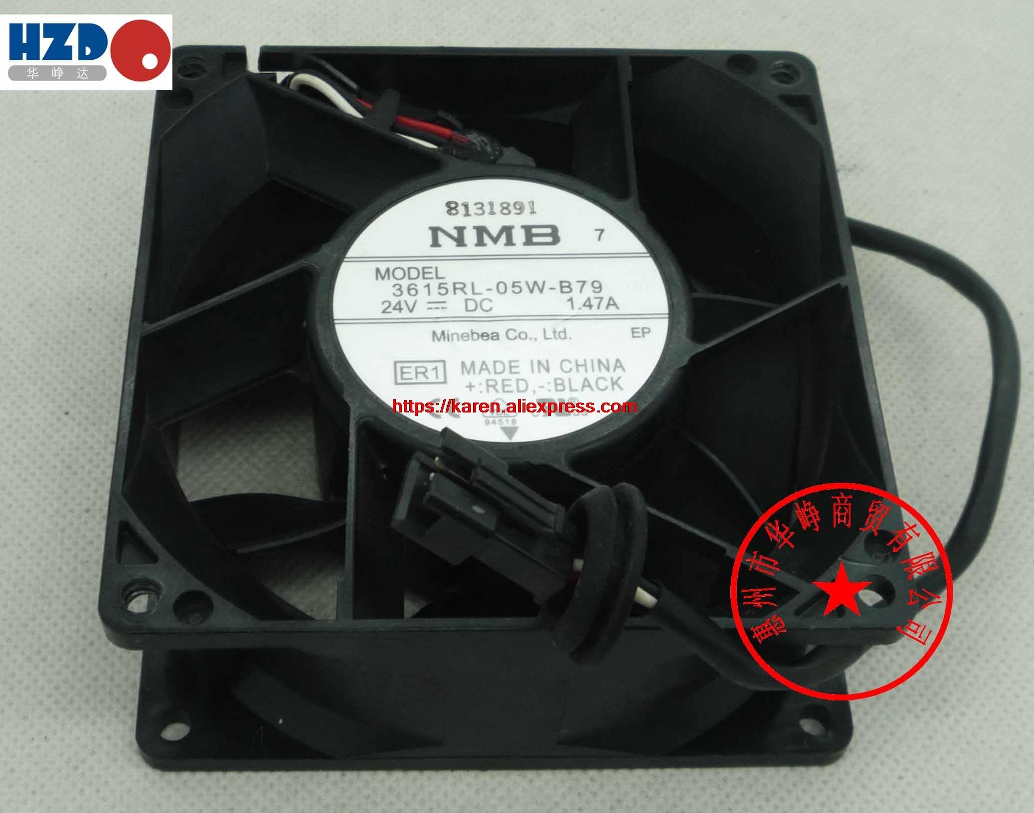 NMB 9238 24V 3615RL-05W-B30 0.53A 3615RL-05W-B50 0.93A 3615RL-05W-B79 1.47A CNDC24Z4P-977 12CM 12308 24v 10W 3wire Cooling Fan<br>
