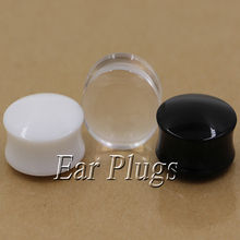 1 pair acrylic flesh tunnel curved saddle ear plug gauges ear expander 3 colors pick ASP020