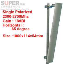 18dbi vertical polarization 65 degree 2300-2700Mhz Panel antenna 2.4G wifi antenna Base station use FDD 4G antenna,TDD antenna