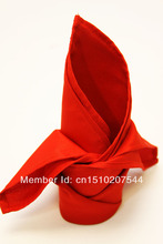 10pcs Red  Napkin, Polyester Plain Napkin 50x50cm for Wedding Events &Party,Restaurant&Hotel,