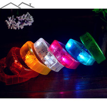Luminous LED Bracelet Sound Vibration Luminescence Silicone Bracelet Birthday Christmas Party Luminous Bracelet Event Party