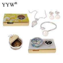 Freshwater Cultured Love Wish Pearl Oyster Necklace/Earrings/Ring Vacuum-packed with Shell Pearl Set for Women Oyster Pearls