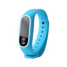 2017New Replacement Silica Gel sport watch Wristband Band Strap For Xiaomi Mi Band 2 Bracelet Large Strap length 170-220mm #20(China)