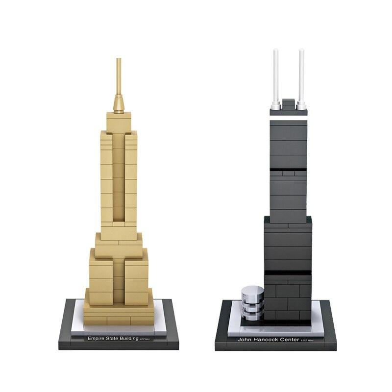 John Hancock Center Model Mini Building Blocks Empire State Building Toys DIY Bricks World Buildings Educational Blocks<br><br>Aliexpress