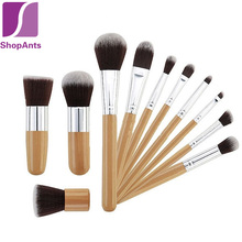 Hot Sale 11 Pieces/Lot Wood Handle Makeup Cosmetic Eyeshadow Foundation Concealer Brush Set Beauty Foundation Makeup Brushes