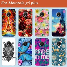 Personality Paint Back  Cover For Motorola g5 plus  5.2inch Case Fashion Perfect Eiffel Towers Design Popular  Case Cover Shell