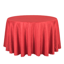 10PCS Jacquard Striped Round Tablecloth Red Gold White Table Covers Square Table Linen Wedding Party Hotel Dining Table Cloths(China)