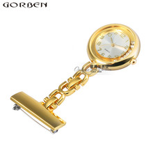 New Arrival Nurses Watch Crystal Pocket Watches Clip-on Hanging Brooch Quartz Pocket Watch Ladies Women's Watches Small Clock