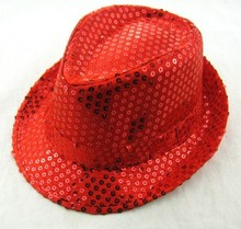 Adult Party Sequins Hats Shinning Hip Hop Performance Cowboy Hat
