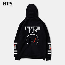 BTS New Brand Sweatshirt Twenty One Pilots Number Men Kpop Hoodies Fashion Logo Hoodies And Hip Hop Fashion Style 4XL(China)