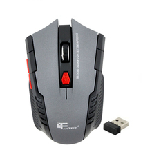 Mouse Mice Hot sale new Fashion Portable Black 2.4Ghz Mini portable Wireless Optical Gaming Mouse For PC Computer Laptop(China)
