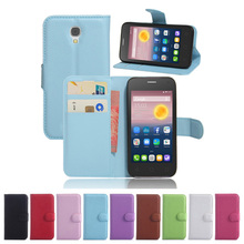For Alcatel Pixi First 4024D Wallet Flip Leather Case With Card Slots Stand Cover For Alcatel Pixi First 4024D Cell Phone Bag