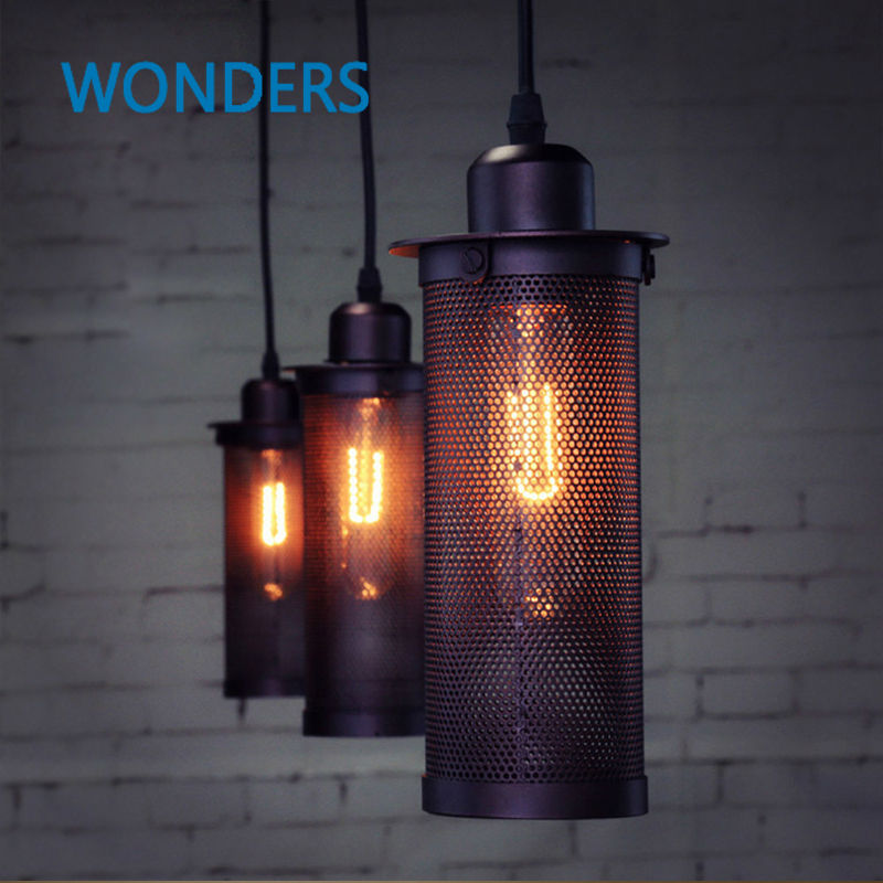 Industrial European Art Craft net Pendant Lamp Ceiling Lamps Home Decorative Hanging Light Bar Loft Lighting<br>