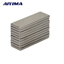 AIYIMA 10pcs 30*10*2mm Rectangular Cuboid Magnet 30mm*10mm*2mm Strong Suction Neodymium Magnets Neodimio Imanes Magnetic Tape