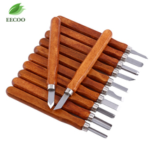 12pcs Woodcut Knife Scorper Wood Carving Tools Woodworking Hobby Arts Crafts Nicking Cutter Graver Scalpel Multi Purpose DIY Pen(China)