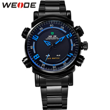 Expensive WEIDE Digital Luxury Watches Men Top Brand Logo Led Quartz Military Stainless Steel Casual Waterproof Relogio WH1101