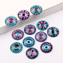 reidgaller mix round domed jewelry glass cabochon 12mm 14mm 18mm 20mm diy earrings pendant accessories(China)