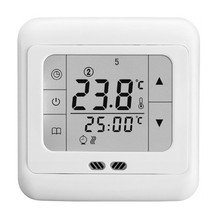 New Digital Touch Screen Display Thermostat Floor Heating Temperature Controller Room Thermostat White Backlight