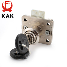 12PCS KAK-101 Iron Drawer Lock Furniture Desk Cabinet Locks 16mm Lock Core 22 Thickness With Two Keys Security Hardware