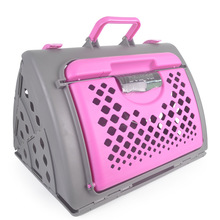 Folding Portable Pet Air Box Flight Case Carrier Cage Cat and Dog Luggage Bag Car Travel Accessories