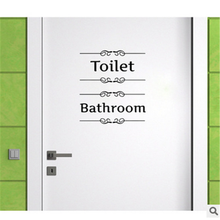 Bathroom Door Stickers Funny Toilet Entrance Sign Wall Sticker for Shop Office Home Cafe Hotel Decoration Toilet Door Decal