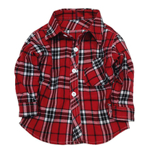 1 2 3 4 5 years long sleeve boys dress shirts children's plaid checkered shirts toddler boy girl Clothing checked shirt flannel(China)