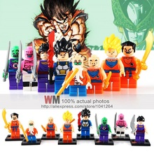 8pcs/lot JR265 Dragon Ball Z Figure Son Goku/Vegeta/Master Roshi/Krillin Models Children Gifts Toys Building Block Drop Shipping