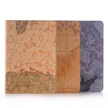 Luxury Case For Samsung Galaxy Tab A 9.7 T550 Tablet PC Wallet World Map With Card Slot Holder PU Leather Cover Case