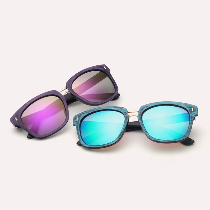 Laura Fairy Fashion Style Square Sunglasses Big Frame Wood Pattern Printing UV400 Sun Glasses <br><br>Aliexpress