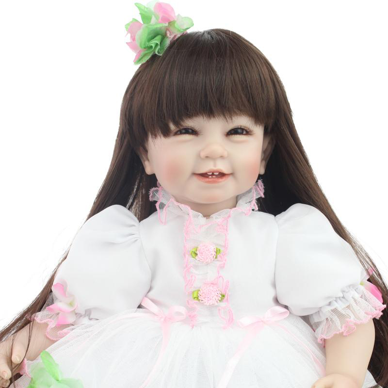 50-55CM Silicone Reborn Baby Dolls 100% Safe Collect Toys Cute Reborn Baby By NPK Dolls 2016 New Arrived Kids Gift at New Year<br><br>Aliexpress