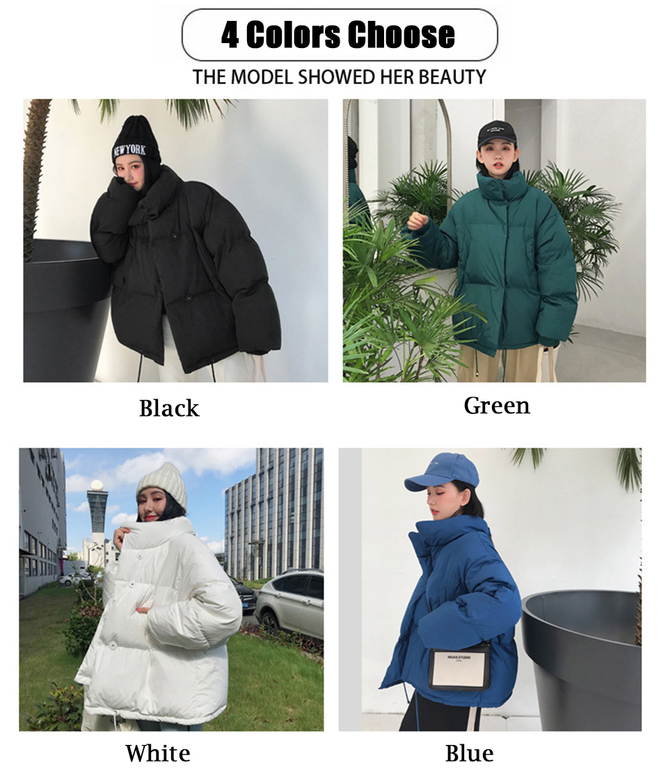 Autumn Winter Jacket Women Parkas Mujer 19 Fashion Coat Loose Stand Collar Jacket Women Parka Warm Casual Plus Size Overcoat 6