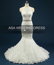 Real Photos Lace Mermaid Wedding Dresses With Sash Cheap Applique And Tulle Wedding Gowns Elegant Bridal Dresses Gowns
