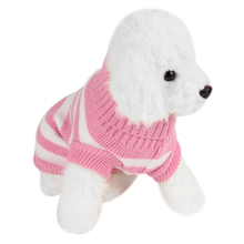 2017 Pet Dog Clothes Winter Wool Blend Striped Dog Sweater Warm Knitted Jumper Pullovers For Small Dogs Puppy Sweaters Costume