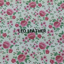 1PC A4 SIZE Printed ROSE  Leather Fabric  PU Eco Leather with  Faux Leather Fabric Synthetic Leather Fabric SK50