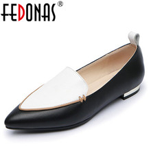 Buy FEDONAS Fashion Spring Autumn Women Genuine Leather Pumps Comfort Low Heels Ladies Shoes Wedding Party Shoes Woman Casual Pumps for $47.84 in AliExpress store