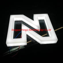 3D Acrylic LED Letters illuminated Advertising Business Signs light box letters customized
