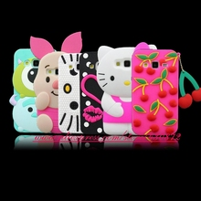 For Samsung Galaxy Core Prime G360H G360 Hot 3D Silicon Pig Zebra Dog Hello Kitty Lip Lipsticks Soft Phone Back Case Cover(China)