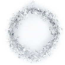 7.5M Star Tinsel Garland Silver For Festival Decoration Christmas Tree Christmas Ornament