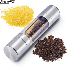 AnnyFa Stainless Steel Ttlife Salt Pepper Grinder Set Dual Mill With Pure Ceramic Grinders Kitchen Accessories